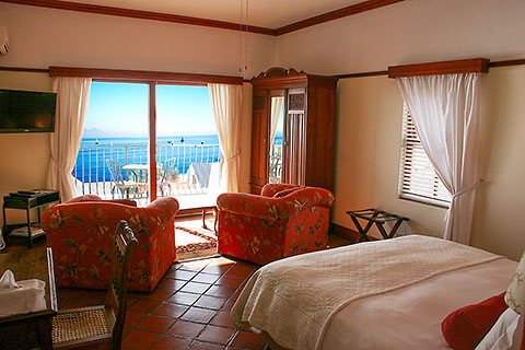 Room  3 - Berg en Zee, Gordon's Bay, Western Cape, Helderberg, South Africa [2012 © bergenzee.co.za] - Gordons Bay accommodation with all sea views - Gordon's Bay accommodation - Beachfront Accommodation - Berg en Zee Guesthouse